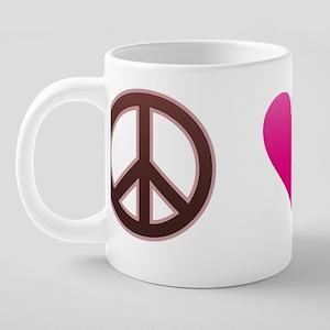 Love Peace Om 20 oz Ceramic Mega Mug