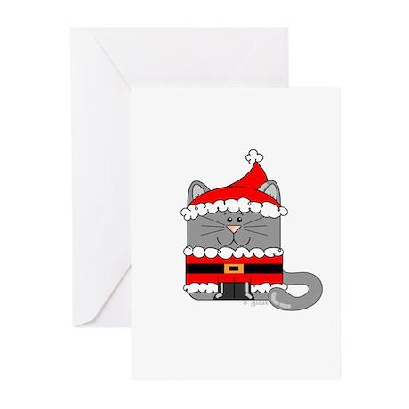 Santa Kitty Cat Greeting Cards (Pk of 10)