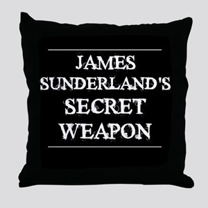 The Secret Weapon Throw Pillow