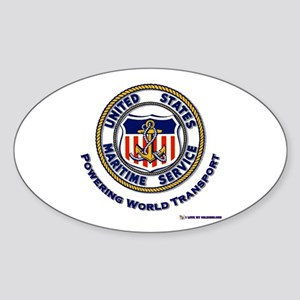 Powering World Transport Oval Sticker