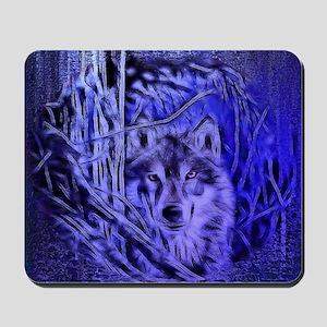 Night Warrior Wolf Mousepad