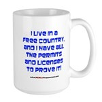 Licenses and Permits Large Mug
