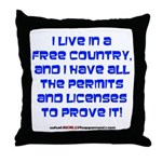Licenses and Permits Throw Pillow