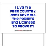 Licenses and Permits Yard Sign