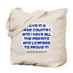 Licenses and Permits Tote Bag