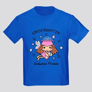 Kindergarten Graduation Princess Kids Dark T-Shirt