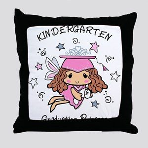 Kindergarten Graduation Princess Throw Pillow