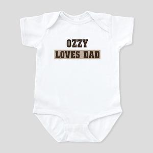 Ozzy loves dad Infant Bodysuit