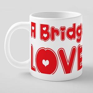 abc117 A Bridge Player 20 oz Ceramic Mega Mug