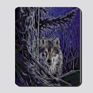 Night Warrior Wolf Mousepad