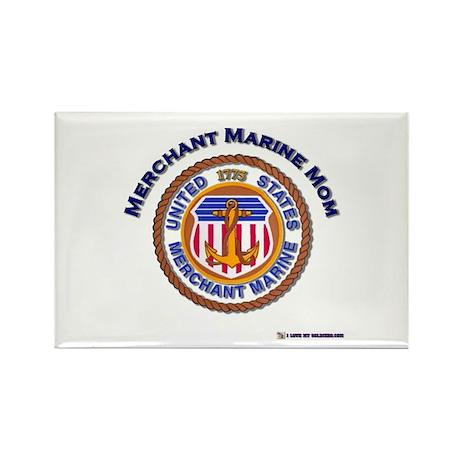 Merchant marine Mom Rectangle Magnet (100 pack)