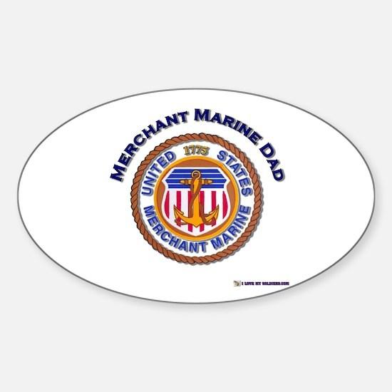 Merchant Marine Dad Oval Decal