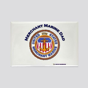 Merchant Marine Dad Rectangle Magnet