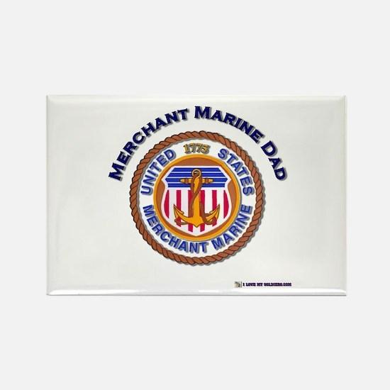 Merchant Marine Dad Rectangle Magnet