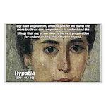 Wisdom of Greece: Hypatia Rectangle Sticker