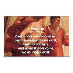 Death Nihilism Epicurus Rectangle Decal