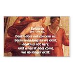 Death Nihilism Epicurus Rectangle Sticker