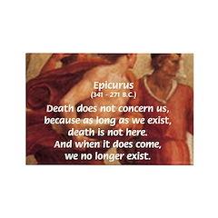 Death Nihilism Epicurus Rectangle Magnet