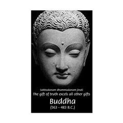 Buddhist Religion: Gift of Truth Sticker (Rectangu