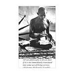 Gandhi Truth Philosophy Rectangle Sticker