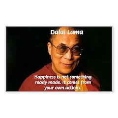 The Dalai Lama Rectangle Decal