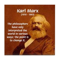 Power of Change Karl Marx Tile Coaster