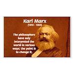 Power of Change Karl Marx Rectangle Sticker