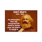 Power of Change Karl Marx Rectangle Magnet