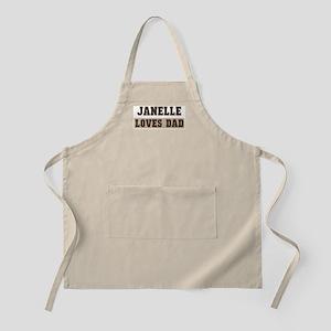 Janelle loves dad BBQ Apron