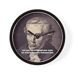 Universal Law: Kant Wall Clock