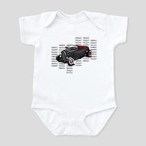 Louvered Deuce Infant Bodysuit