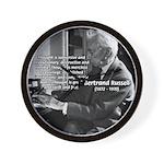 Philosophy Bertrand Russell Wall Clock