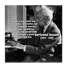 Philosophy Bertrand Russell Tile Coaster