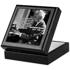 Philosophy Bertrand Russell Keepsake Box