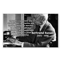 Philosophy Bertrand Russell Rectangle Decal