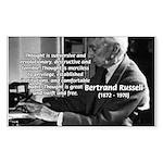 Philosophy Bertrand Russell Rectangle Sticker