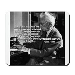 Philosophy Bertrand Russell Mousepad