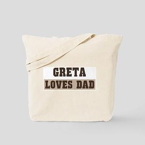 Greta loves dad Tote Bag