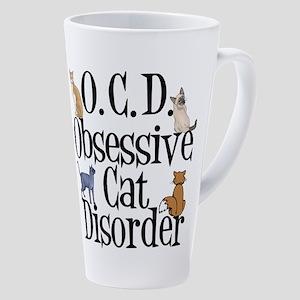 Obsessive Cat Disorder 17 oz Latte Mug