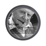 Open Society: Karl Popper Wall Clock