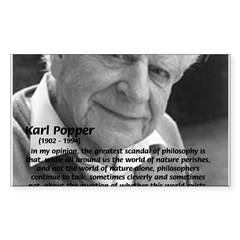 Open Society: Karl Popper Rectangle Decal