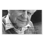 Open Society: Karl Popper Rectangle Sticker