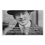 Heisenberg Natural Science Rectangle Sticker
