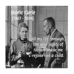 Marie Curie Physics Liberty Tile Coaster