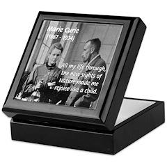 Marie Curie Physics Liberty Keepsake Box