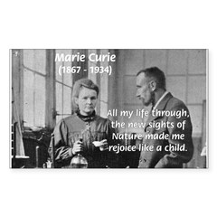 Marie Curie Physics Liberty Rectangle Decal