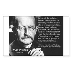 Max Planck Quantum Theory Rectangle Decal