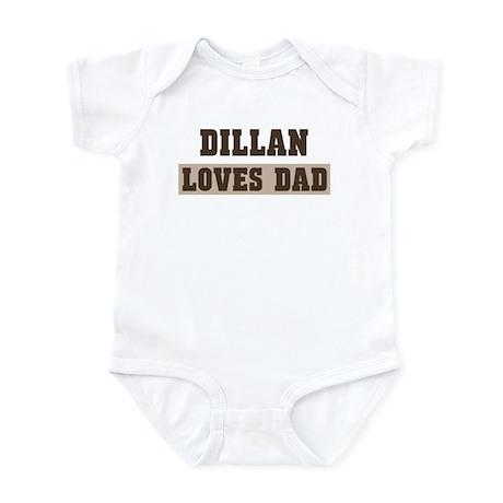 Dillan loves dad Infant Bodysuit