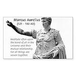 Universe: Marcus Aurelius Rectangle Sticker