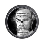 William James Life and Change Wall Clock
